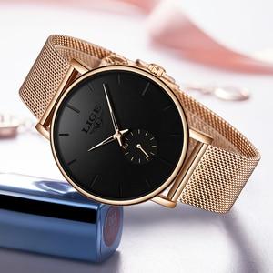 Image 3 - 2020 Luik Merk Luxe Vrouwen Casual Horloge Waterdicht Horloge Vrouwen Mode Jurk Alle Rvs Dames Klok Reloj Mujer