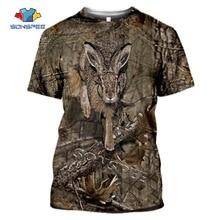 SONSPEE Summer Casual Men t shirts Camo Hunting Animals Rabbit 3D T-shirt Fashion Streetwear Women Pullover Short sleeve Tee Top