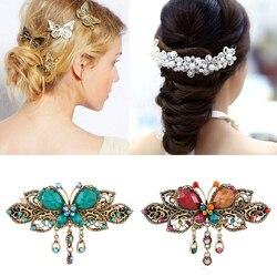 Women Girls Metal Hair Clips Golden Butterflies Hairpins Grips Barrette Clamps for Wedding Hair Pins Girls Hair Accessories