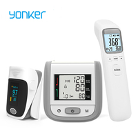 Yonker OLED Fingertip Pulse Oximeter & LCD Wrist Blood Pressure Monitor & Baby Infrared Thermometer Family Health Care Gift