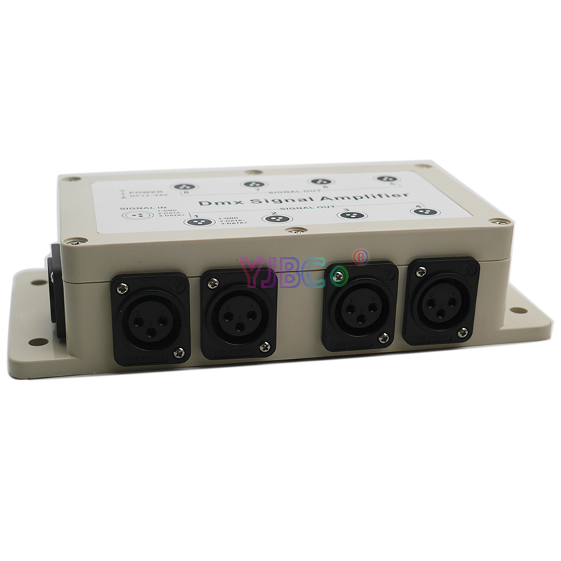 DC12V-24V 8 CH DMX512 Signal Relay Amplifier Stage Lamp Intelligent Lighting LED Controller 1000V Photoelectric Isolation