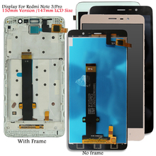 Display For Xiaomi Redmi Note 3 Kenzo LCD Touch Screen Soft key Backlight/Frame for Redmi Note 3 Pro Display Snapdragon Version