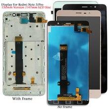 عرض ل شاومي Redmi نوت 3 كينزو LCD شاشة تعمل باللمس لينة مفتاح الخلفية/الإطار ل Redmi نوت 3 برو عرض أنف العجل الإصدار