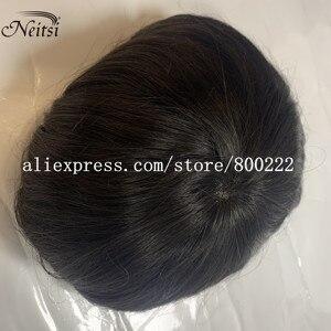 "Image 2 - Neitsi רמי קלטת שיער טבעי הרחבות זוגי Drawn ישר דבק בלתי נראה שיער 20 ""50 גרם אפור צבע"
