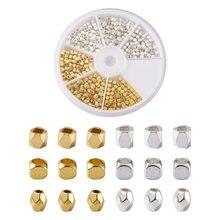 360 pçs/caixa bronze & liga facetada espaçador contas coluna & cubo & forma oval grânulo para pulseira brinco jóias fazendo acessórios