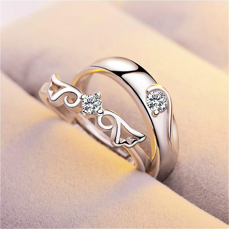 Женское Обручальное кольцо с цирконом, серебристого цвета