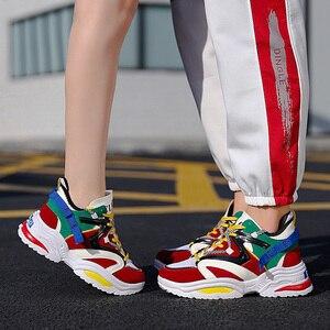 Image 5 - Chun Bụng Sneakers Nữ Vulcanize Giày Đế Phẳng Giày Thể Thao Với Các Nền Tảng Giày Nữ Giày Nữ Giày Thể Thao Tenis Feminino