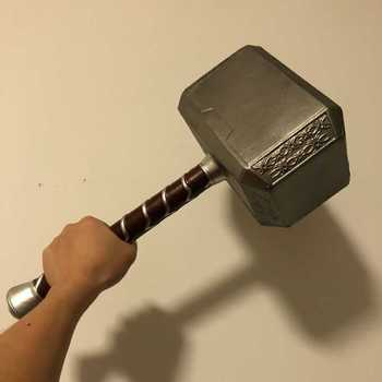 44cm PU Material Thor's Hammer 1:1 Thor Thunder Hammer Figure Weapons Model  Cosplay Kids Gift Movie Role Playing Safety Toy avengers weapon superhero thor hammer full metal 1 1 mjolnir cosplay hammer thor odinson quake martillo collection model toy