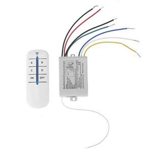Image 1 - 4 Relais 220V Draadloze Afstandsbediening Schakelaar On/Off 220V Lamp Light Digital Wireless Muur Remote Switch ontvanger Zender Voor