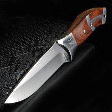 XUAN FENG couteau court de chasse en plein air, auto défense tactique, couteau de survie pour le camping à haute dureté
