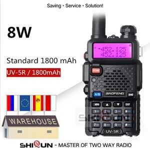 Image 1 - Optional 5W 8W Baofeng UV 5R Walkie Talkie 10 km Baofeng uv5r walkie talkie hunting Radio uv 5r Baofeng UV 9R UV 82 UV 8HX UV XR