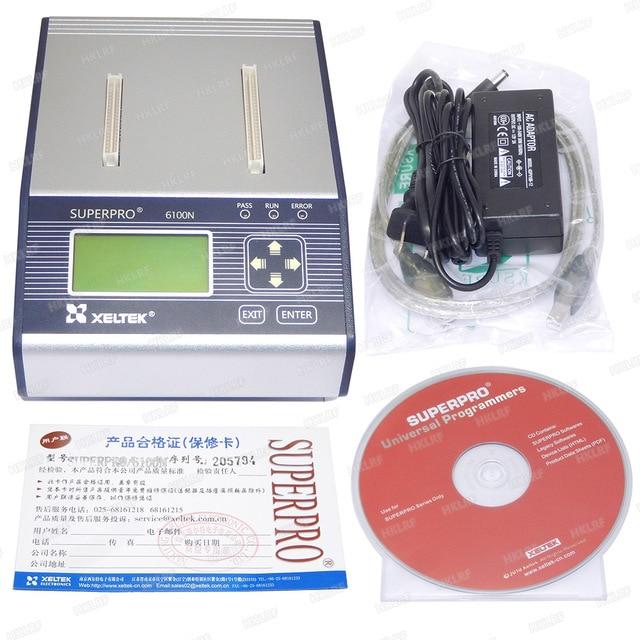 100% Original New XELTEK SUPERPRO 6100 6100N Programmer   With CD Software can be updated at official website
