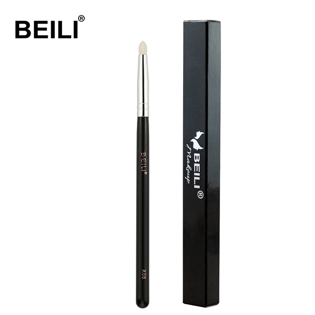 BEILI Smoky Eye Shadow Eye Pencil Small Shade Natural Goat Hair Black handle Single Makeup Brush