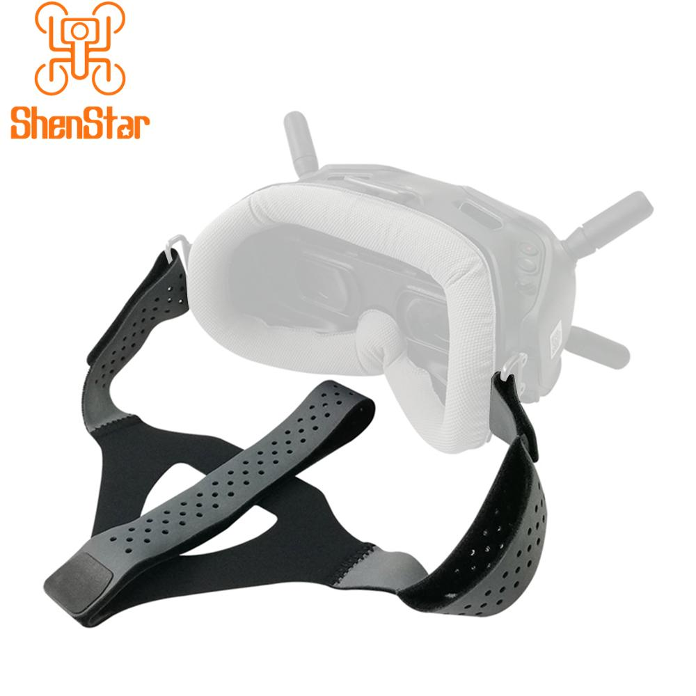 Shenstar Eye Pad With Head Strap Band Set For DJI Digital FPV Goggles Face Plate Replacement Kit For Lycra Skin-friendly Fabric
