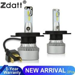 Zdatt H7 LED H4 światła oświetlenie H11 żarówki Turbo chłodzenia 12000LM 100W 6000K 12V światła przeciwmgielne 9005 HB3 9006 HB4 światła do jazdy