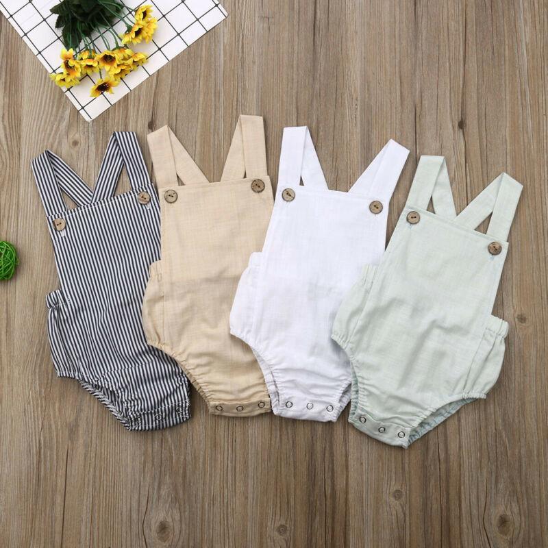 11 צבעים תינוק Romper יילוד תינוקות ילד ילדה ללא שרוולים חולצות צלב ביב חליפת קיץ קיץ תינוק של בגדים עבור 0-3Years