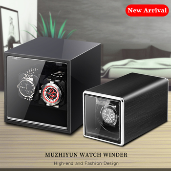 цена Automatic Watch Winder Box Accessories Display Mechanical Rotating Uhrenbeweger Leather for automatic watches онлайн в 2017 году