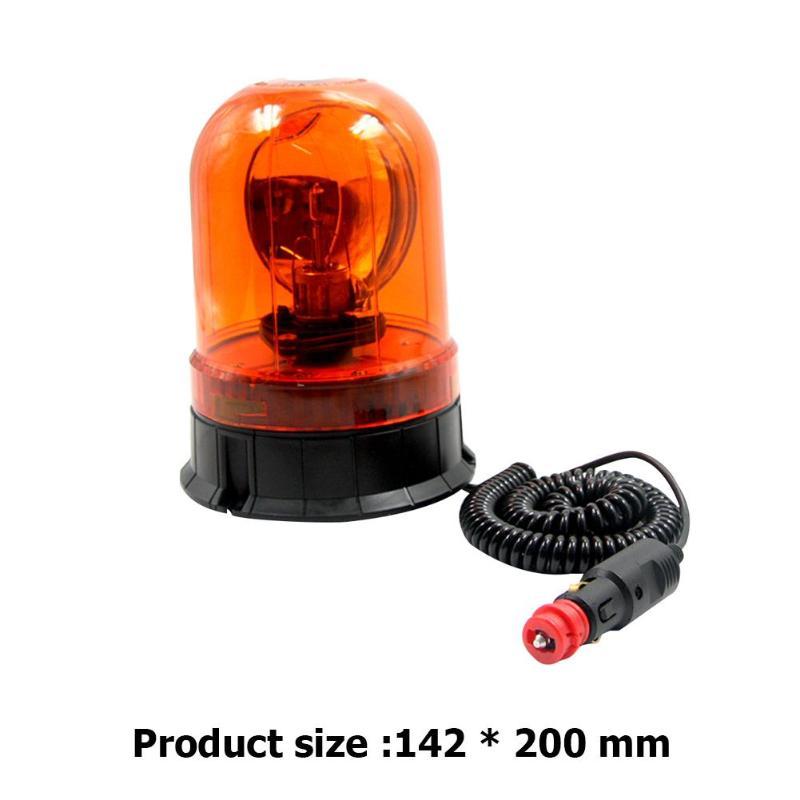 12V Revolving Amber Light 10W Light For Use As A Warning Beacon Magnetic Base