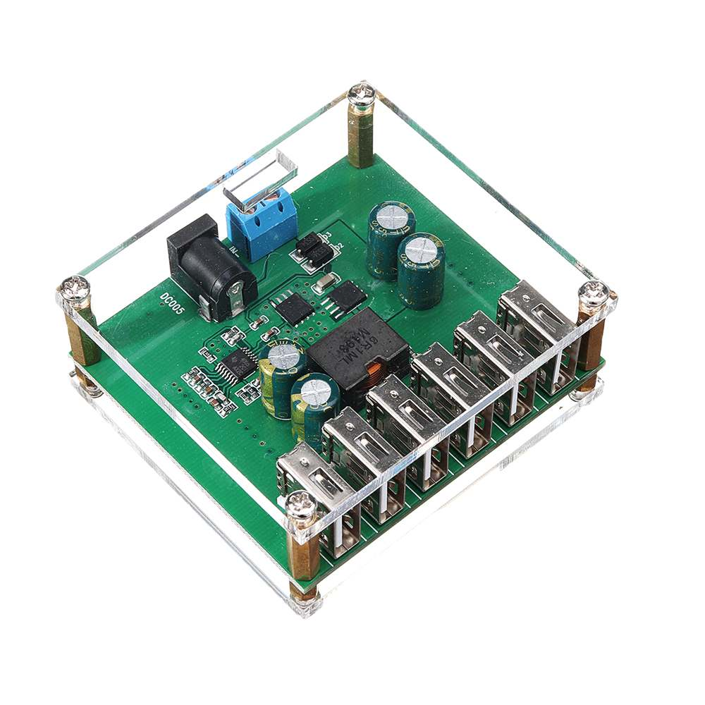 LEORY DC-DC USB Output Power Supply Module Step Down Regulator Power Converter 6 10V 12V 24V 36V To 5V/8A Module