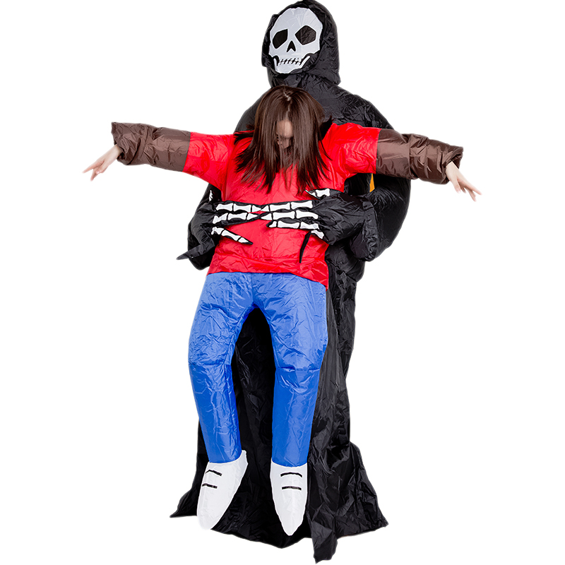 Halloween Horror Costume Inflatable Ghost Holding Clothes Model Home Decoration Inflatable Clothes Props