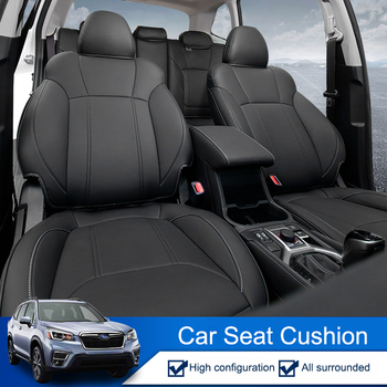 QHCP Car Seat Cover Microfiber Leather Comfortable Seat Cushions Automotive Accessories Black Brown Fit For Subaru Forester 2019
