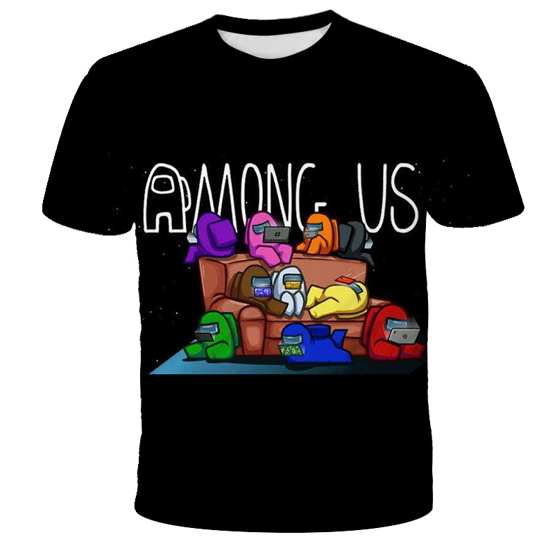 Nouveau 3D parmi nous enfants T-Shirt imprimer filles drôle vêtements garçons Costume enfants 2020 été hauts jeu chaud enfants vêtements bébé t-shirts