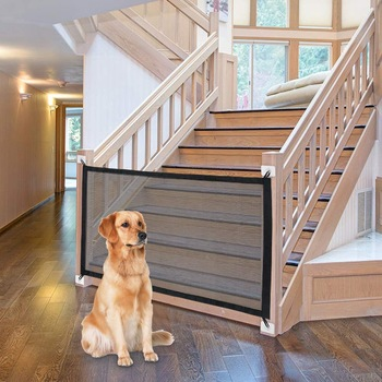 Magic Dog Gate Ingenious Mesh Dog Fence For Indoor and Outdoor Safe Pet Dog gate Safety Enclosure Pet supplies Dropshipping 1