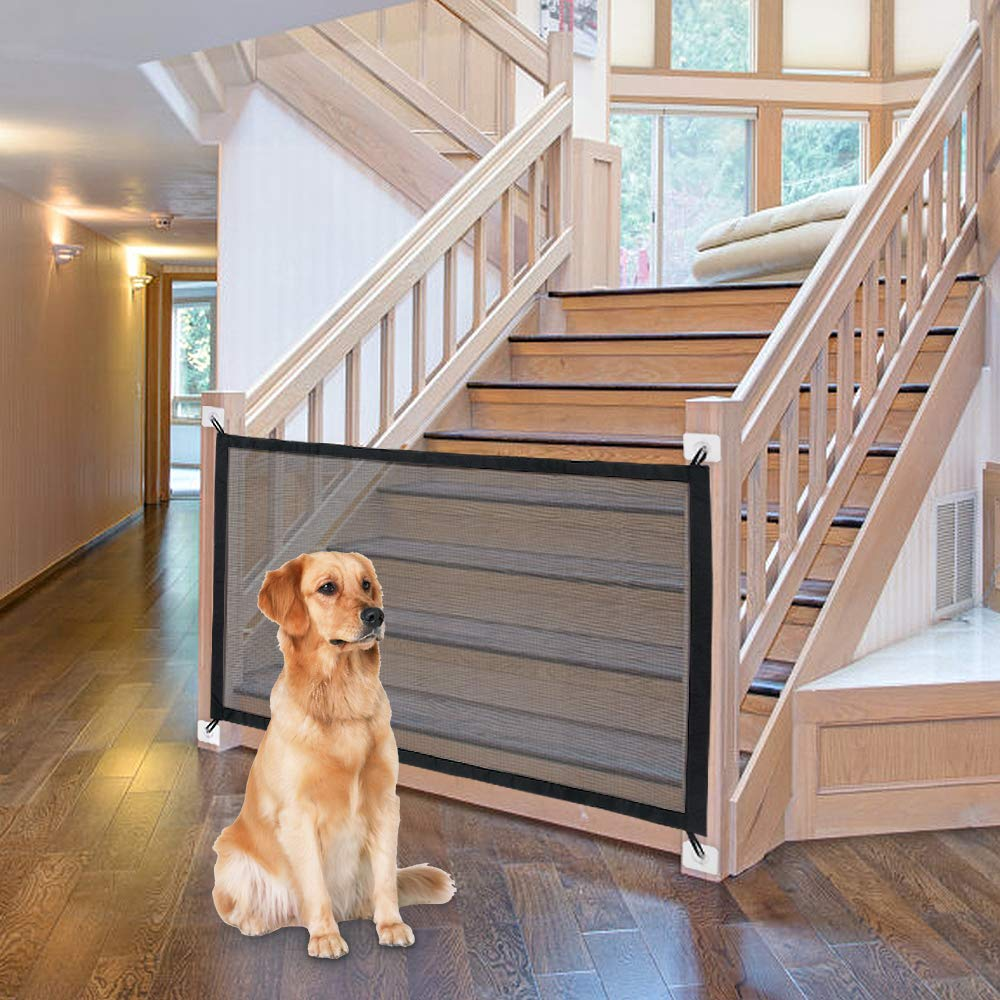 Dog Gate Ingenious Mesh Dog Fence For Indoor and Outdoor Safe Pet Dog gate Safety Enclosure
