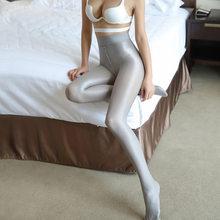 40d plus size outono womens collants t-virilha óleo brilhante sexy meia-calça pole dança meias mangueira de óleo feminino