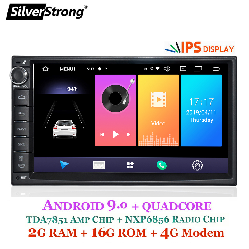 SilverStrong Android9.0 Car 2Din Universal GPS Car DVD Navigation Android9.0 for LADA GRANTA 2018 without DVD car player 707M3 image
