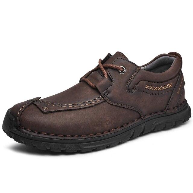 Мужские кожаные туфли в стиле ретро