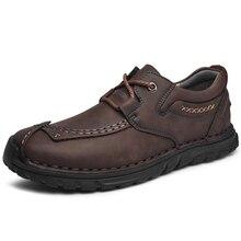 레트로 암소 가죽 신발 남성 로퍼 플러스 사이즈 46 패션 캐주얼 신발 남성 Moccasins 수제 남성 신발 가죽 zapatos 드 hombre