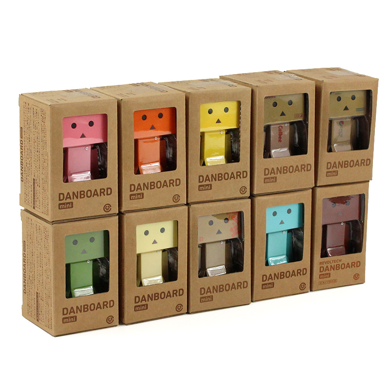 8cm Danbo Man With LED Light Action Figure Collection Model Toys Gifts For Children Kids Free Shipping
