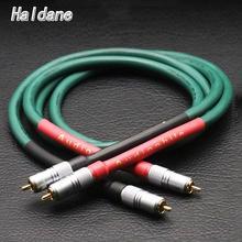 Haldane par HIFI Furutech alfa serie FA 220 OCC interconexión RCA Cable de Audio amplificador de CD y DVD con Nakamichi RCA macho