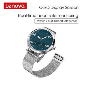 Image 2 - Reloj Inteligente Lenovo X Edición Deportiva BT5.0 Puntero Luminoso Pantalla OLED Reloj de Pulsera de Doble Capa de Silicona