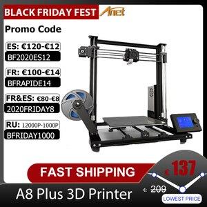 Image 1 - 새로운 Anet A8 플러스 업 그레 이드 고정밀 DIY 3D 프린터 자체 조립 300*300*350mm 대형 인쇄 크기 알루미늄 합금 프레임