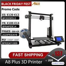 Yeni Anet A8 Plus yükseltilmiş yüksek hassasiyetli DIY 3D yazıcı kendinden montaj 300*300*350mm büyük baskı boyutu alüminyum alaşımlı çerçeve