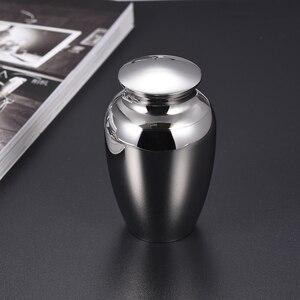 Image 2 - 73mm Stainless Steel Pet Memorial Urn for Dog Cat Ashes Keepsake Holder Mini Cremation Ashes Urn for Pets Keepsake