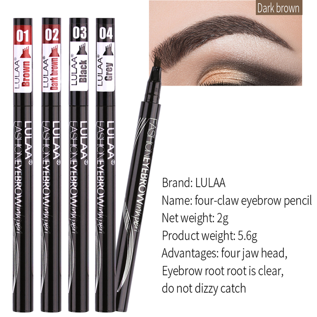 MB 4 Colors Natural Four-claw Eyebrow Pencil Lasting Brown Eye Brow Tint Makeup Waterproof Black Grey Eyebrow Pen Cosmetics 3