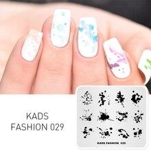 KADS נייל אמנות תבנית 36 עיצובים בסגנון סיני דיו ציור Wordart תבנית תמונת Qa80 אמנות סטנסילים