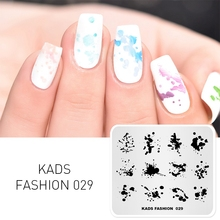 KADS Nail Art Template 36 Designs Chinese Style Ink painting Wordart Image Template Nail Stamping Plate Nail Art Stencils