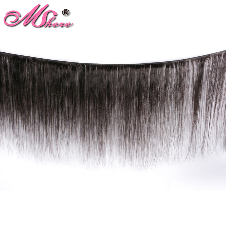 Image 2 - Mshere straight hair bundles brazilian hair weave bundles 100% human hair bundles Natural Color non Remy hair weave 1  pieces-in Hair Weaves from Hair Extensions & Wigs