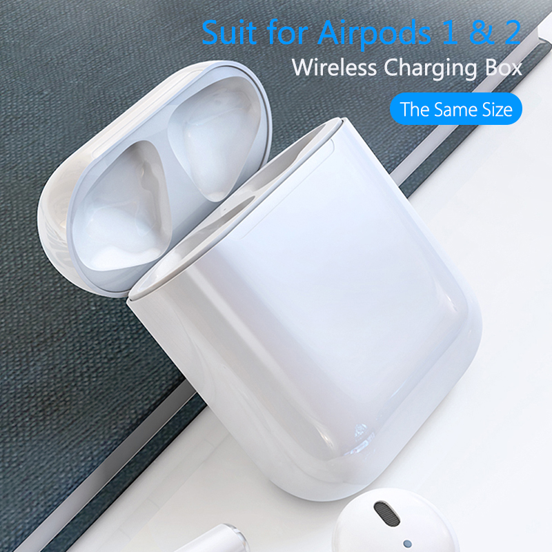 For <font><b>Airpods</b></font> Charging Case Replacement for Air Pods 1 2 Charge Box Qi Wireless Charging With Bluetooth Pairing <font><b>Pop</b></font> <font><b>up</b></font> Windows image