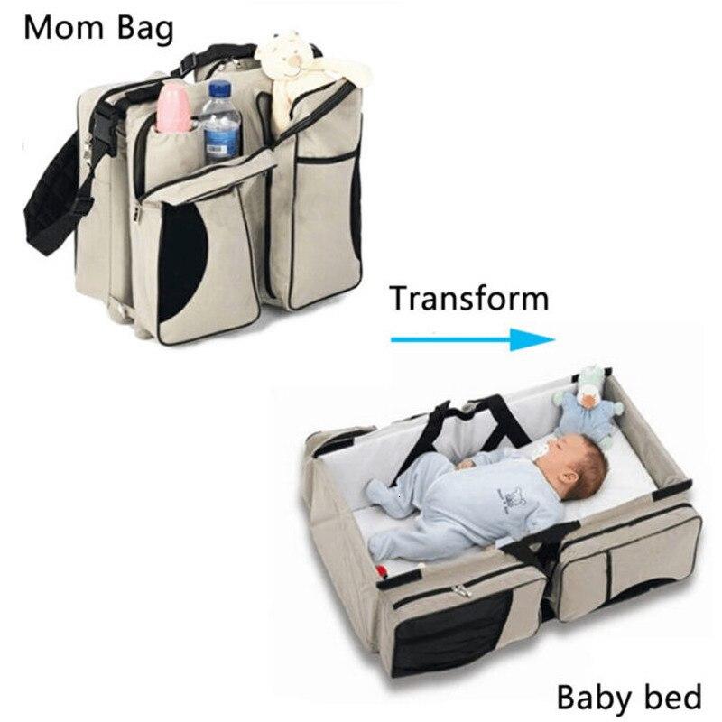 Многофункциональная портативная складная детская кроватка для путешествий, двусторонняя сумка для кормления для новорожденных