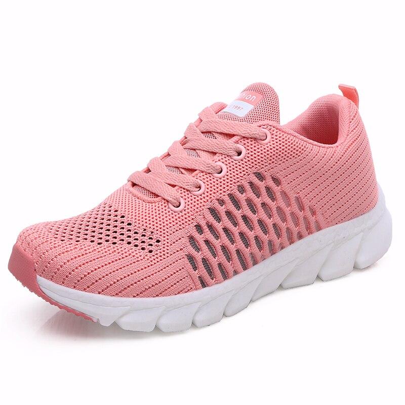 Женская обувь; Уличные кроссовки на платформе; Супер светильник; Сетчатая спортивная мягкая обувь для бега; Женская повседневная обувь на шнуровке Беговая обувь      АлиЭкспресс