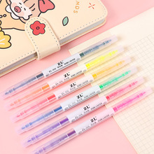 Mohamm Dual Highlighter Marker Pens 6 Colors Creative Scholl Supply