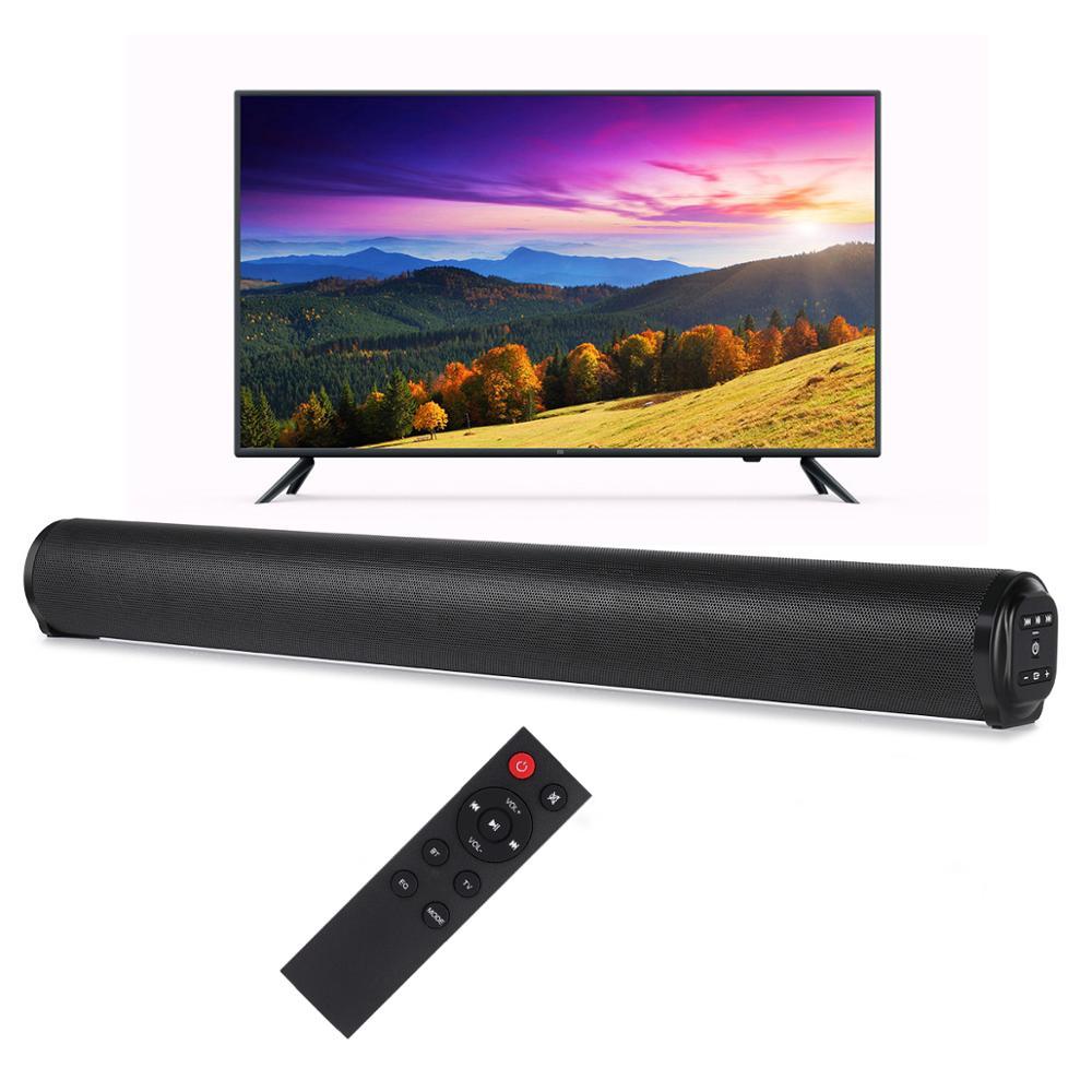 Barra de sonido portátil con Bluetooth 5,0, 20W, para cine en casa, estéreo, música, soporta tarjeta TF y USB para TV y PC