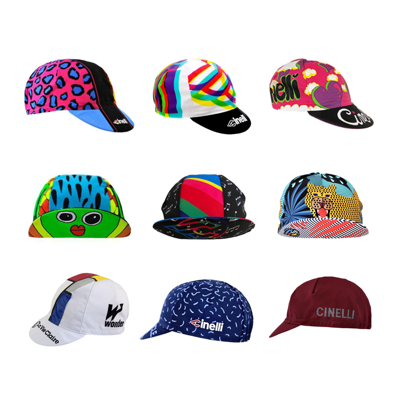 NEW Pro Cycling Caps Men And Women Cycling Headdress Free Size Breathable 9 Style Hats Cycling Bike Race