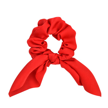 New Chiffon Bowknot Elastic Hair Bands For Women Girls Solid Color Scrunchies Headband Hair Ties Ponytail Holder Hair Accessorie 22