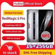 Nubia – téléphone portable RedMagic 6 Pro 5G, écran de 6.8 pouces, SmartPhone Gaming, mémoire de 16GB et 256GB de ROM, Snapdragon 888, NFC